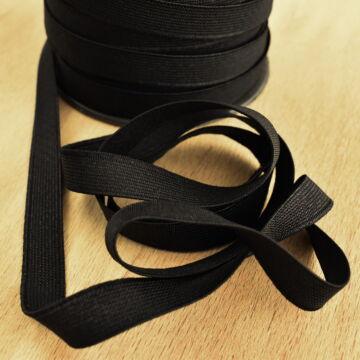 Gumiszalag – Nadrág gumipertli fekete színben, 13mm