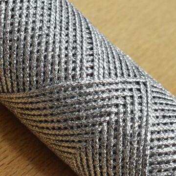 Fémszálas zsinór – Lurex borítással, ezüst színben, 2,5mm