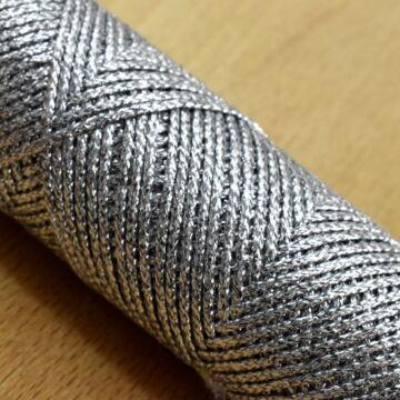 Fémszálas zsinór – Lurex borítással, ezüst színben, 1,3mm