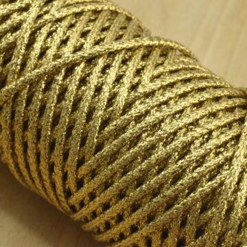 Fémszálas zsinór – Lurex borítással, arany színben, 4mm