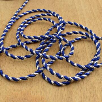 Zsinór – Sodrott, ezüst és kék színben, 3mm
