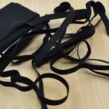 Gumiszalag – Bordázott gumi fekete színben, 10mm