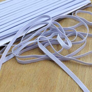 Gumiszalag – Bordázott gumi fehér színben, 5mm