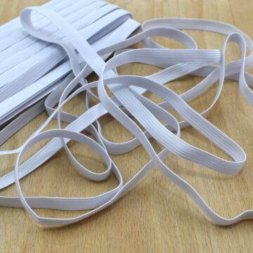 Gumiszalag – Bordázott gumi fehér színben, 10mm