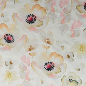 Barbi Crepe – Barack színű nagy virágos mintával