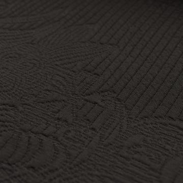 Scuba – Varrott mintával, fekete színben, PANELES MINTÁVAL