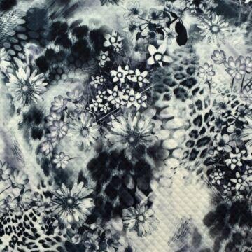Scuba – Steppelt hatású, virág és leopárd mintával