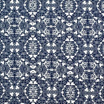 Scuba – Sötétkék marokkói mintával