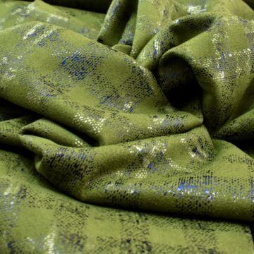 Scuba – Fényes kockás mintával, velúros, zöld