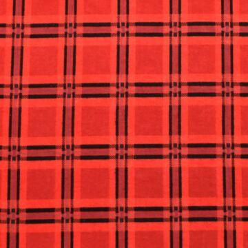 Flanel – Kockás mintával, piros színben