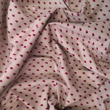 Puplin – Halvány rózsaszín alapon piros vessző jeles mintával