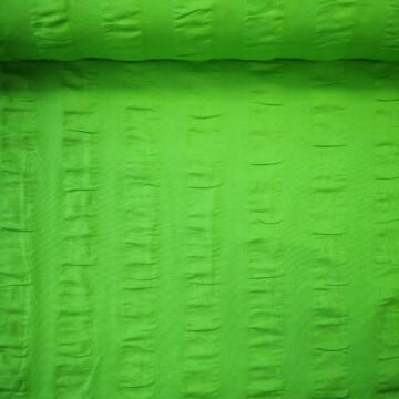 Krepp – Zöld színben, csíkban, anyagában hullámos
