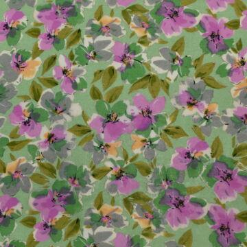 Batiszt – Lila-zöld virágos mintával