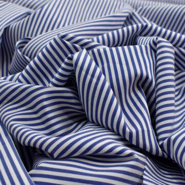 Puplin – Kék-fehér keskeny csíkos mintával