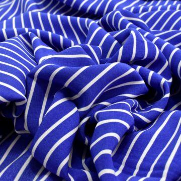 Puplin – Kék-fehér széles csíkos mintával