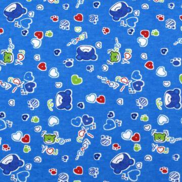 Flanel – Macis mintával, kék színben