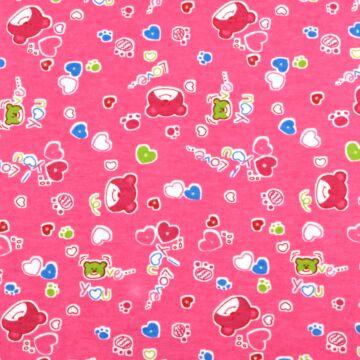 Flanel – Macis mintával, rózsaszín