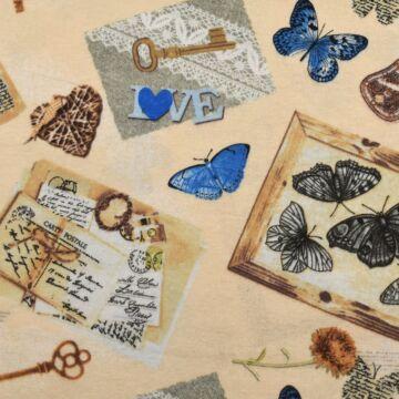 Flanel – Pillangós mintával, kék