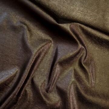 Műbőr – Textilbőr bronz barna színben, metál fényű