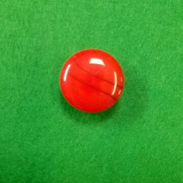 Műanyag gomb – Polli piros színben, 24-es
