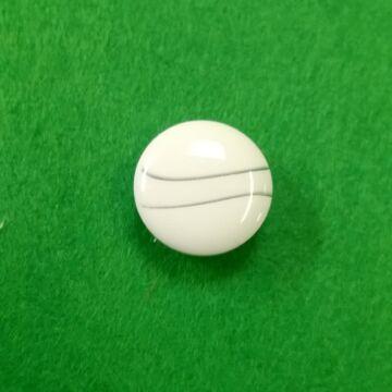 Műanyag gomb – Polli fehér színben, 24-es