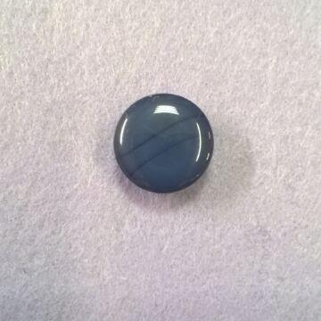 Műanyag gomb – Polli sötétkék színben, 24-es