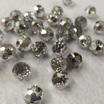 Gyöngy gomb – Menyasszonyi ruha gomb, ezüst színben, 10mm (120430)
