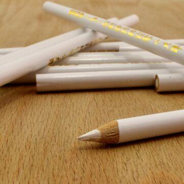 Jelölő ceruza – Fehér színben, kerek