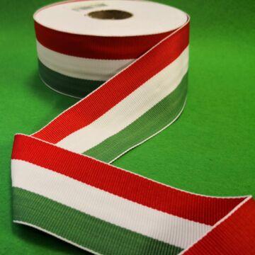 Nemzeti szalag – Magyar nemzeti színű szövött szalag, 50 mm