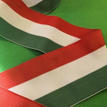 Nemzeti szalag – Magyar nemzeti színű szövött szalag, 70 mm