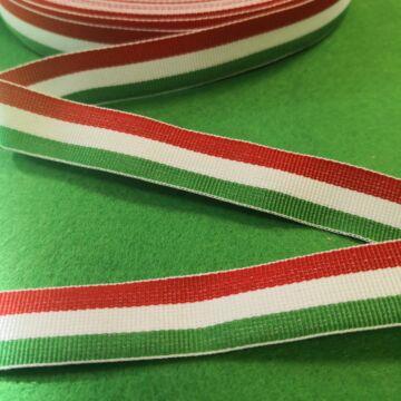 Nemzeti szalag – Magyar nemzeti színű szövött szalag, 18mm