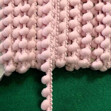 Paszomány - Rózsaszín színben, bogyókkal díszített