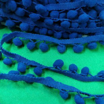 Paszomány - Sötétkék színben, lógó bogyókkal díszített