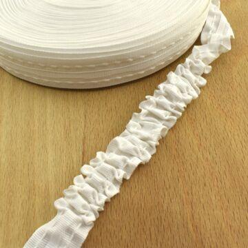 Függöny összehúzó  - Fehér, folyamatos, 25mm
