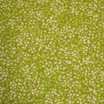 Pamutvászon – Bogyós mintával, kivizöld színben