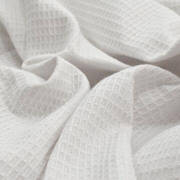 Pamutvászon – Darázs mintás pamutvászon, fehér