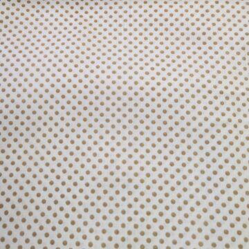 Pamutvászon – Fehér, bézs 2mm pöttyös mintával