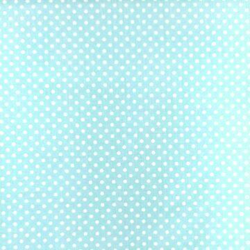 Pamutvászon – Világos menta, fehér 2mm pöttyös mintával