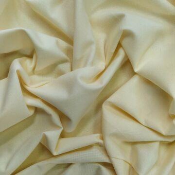 Pamutvászon – Vanília  színű üni, 240cm széles!