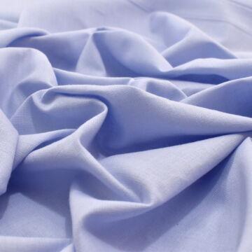 Pamutvászon – Világoskék színű üni, 240cm széles!