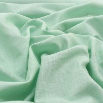 Pamutvászon – Halvány zöld színű üni, 240cm széles!