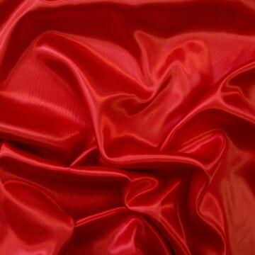 Dekor szatén –  Piros színű üni