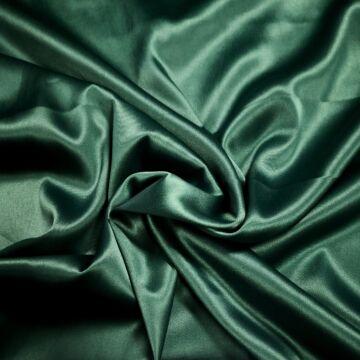 Szatén, Elasztikus Düsesz – Fenyőzöld színben.