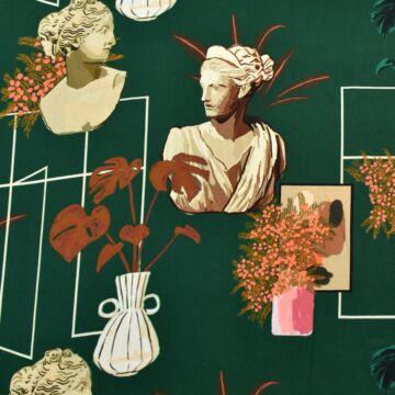 Viszkóz selyem – Szobor és váza mintával