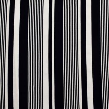 Viszkóz selyem – Sötétkék és fehér csíkos mintával