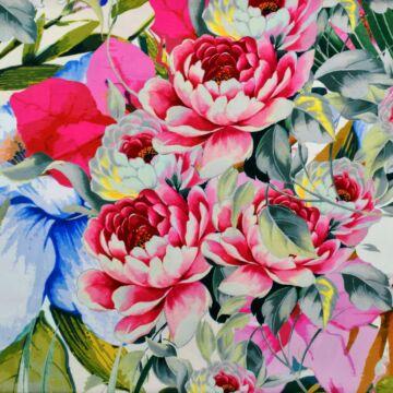 Selyem – Armani selyem rózsaszín bazsarózsa mintával