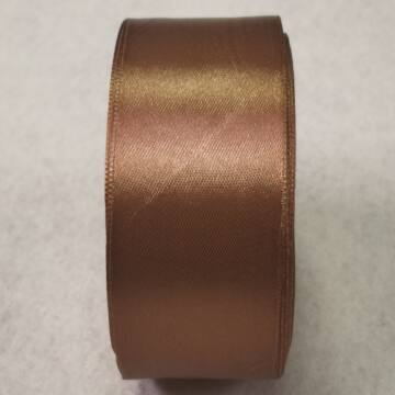 Szatén szalag – Középbarna színben, 4cm