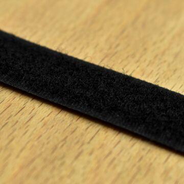 Varrható tépőzár – Fekete színben, bolyhos, 2cm