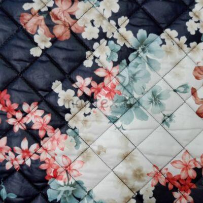 Steppelt kabátbélés – Virág mintával