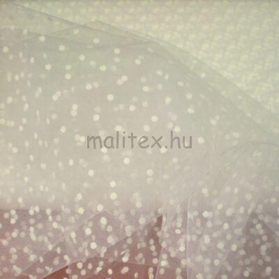 Pöttyös tüll – Fehér alapon fehér pöttyös mintával